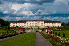Royal palace front yard, Ludwigsburg Royalty Free Stock Photography