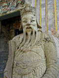 Royal Palace - garde en pierre avec la barbe débordante Image stock