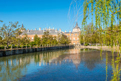 Royal palace with garden in Aranjuez. Spain Royalty Free Stock Image