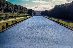 Royal Palace Garden in Caserta, Italy royalty free stock photography