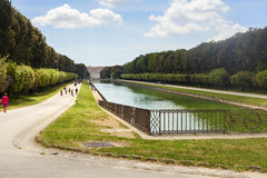 Royal palace garden in the city of caserta Stock Images