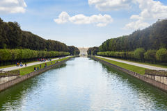 Royal palace garden in the city of caserta Royalty Free Stock Photo