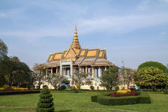Royal palace and gardens in Phnom Penh, Cambodia Royalty Free Stock Photography