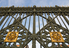 Royal Palace gate detail Stock Photography