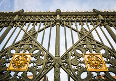 Royal Palace gate detail Royalty Free Stock Photos
