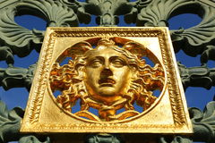 Royal Palace gate detail, Turin, Italy Stock Images