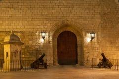 Royal Palace Gate entrance Almudaina Royalty Free Stock Image