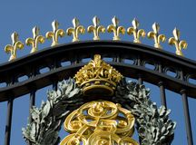 Royal Palace Gates Royalty Free Stock Photo