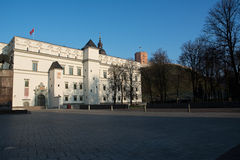 Royal Palace and Gediminas Hill. In Vilnius stock images
