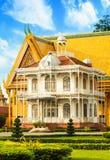 Royal Palace is gevestigde de Stadshoofdstad van Phnom Penh van Kambodja stock foto