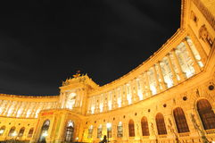 Royal palace (golden luxury in Vienna) Stock Photography