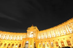Royal palace (Golden luxury in Vienna) Royalty Free Stock Image