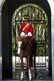 Royal palace guard. Royal palace, Kuala Lumpur,-May 2010: Guard on duty at royal palace, May 2010, Kuala Lumpur Stock Photography