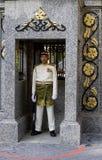 Royal palace guard. Royal palace, Kuala Lumpur,-May 2010: Guard on duty at royal palace, May 2010, Kuala Lumpur Royalty Free Stock Photography
