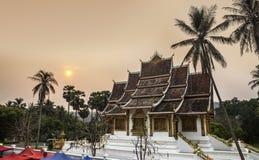 Royal Palace(Haw Kham) & Haw Pha Bang in Luang Prabang, Laos. Royalty Free Stock Photo