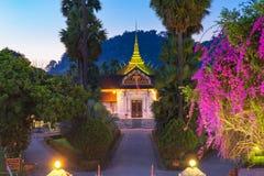 Royal Palace Haw Kham muzeum narodowe kompleks Luang Pr Fotografia Stock