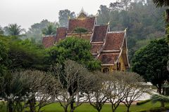Royal Palace Haw kham in Luang Prabang, Laos, Asia stock images