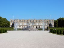 Royal Palace of Herrenchiemsee with fontains - Bavarian Versailles – Germany Royalty Free Stock Images