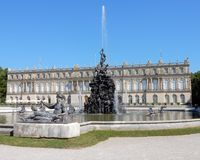 Royal Palace of Herrenchiemsee - New Palace with fontains, sculptures  – Germany Stock Photos
