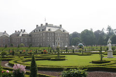 Royal palace Het Loo with renaissance garden. Beautiful royal palace het Loo with gorgeous gardens in the Netherlands Royalty Free Stock Photos