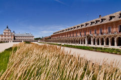 Royal Palace historical square and buildings in Aranjuez, Spain Royalty Free Stock Image
