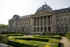 Royal Palace horisontalBryssel - Arkivfoton