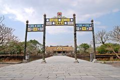 Royal palace in Hue, Vietnam Royalty Free Stock Photography