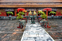Royal Palace in Hue. Vietnam. Unesco World Heritage stock photography
