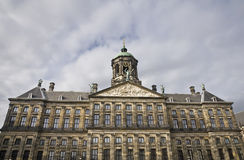 Royal Palace i Amsterdam Royaltyfria Bilder