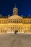 Royal Palace i Amsterdam, Nederländerna Royaltyfri Fotografi