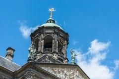 Royal Palace i Amsterdam, Nederländerna Arkivbilder
