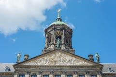 Royal Palace i Amsterdam, Nederländerna Arkivfoto