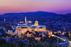 Royal Palace i Budapest, Ungern Arkivbilder
