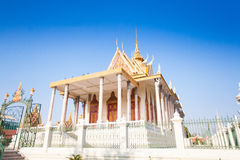 Royal Palace i Phnom Penh Fotografering för Bildbyråer