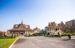 Royal Palace i Phnom Penh Arkivfoton