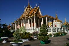 Royal Palace i Phnom Penh Cambodja Arkivfoto