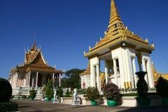 Royal Palace i Phnom Penh Cambodja Arkivbild