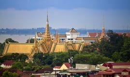 Royal Palace i Pnom Penh Arkivbild
