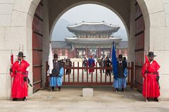 Royal Palace i Seoul Royaltyfria Bilder