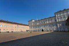Royal Palace i Turin Arkivfoton