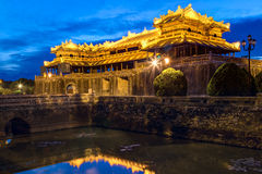 Royal Palace imperial da dinastia de Nguyen na matiz, Vietname fotografia de stock royalty free