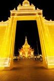 Royal Palace Kambodża przy nocą, Phnom Penh, Kambodża obrazy stock
