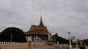 Royal Palace in Kambodja stock afbeeldingen