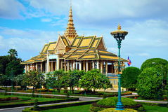 Royal Palace Kambodja hoofdphnom Penh Royalty-vrije Stock Afbeelding
