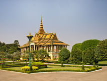 Royal Palace, Kambodscha stockbilder