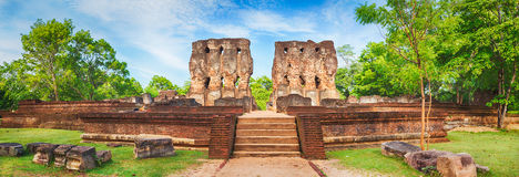 Royal Palace of King Parakramabahu. Panorama Stock Images