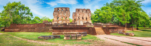 Royal Palace of King Parakramabahu. Panorama Stock Photo