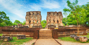Royal Palace of King Parakramabahu. Panorama Royalty Free Stock Image