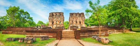 Royal Palace of King Parakramabahu. Panorama. Royal Palace of King Parakramabahu in the world heritage city Polonnaruwa, Sri Lanka. Panorama Royalty Free Stock Photos