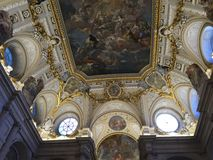The Royal Palace of the king of the Spain. The architecture of this building is amazing. And the painting on the floor is also terrific Royalty Free Stock Photos